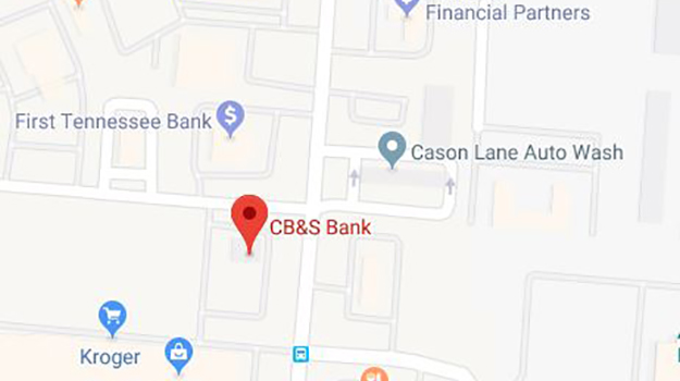 CB&S Bank Location Map in Murfreesboro, TN on Cason Lane