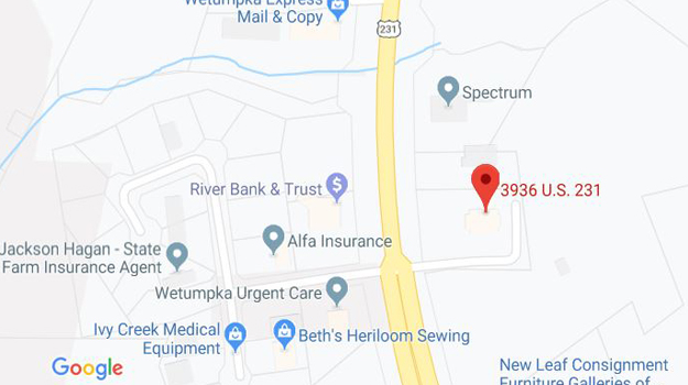 CB&S Bank Location Map in Wetumpka, AL